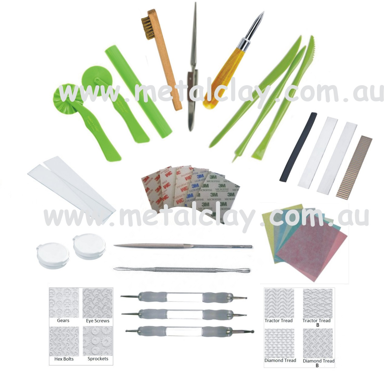 Metal Clay Beginners Starter Tool and Finishing Kit