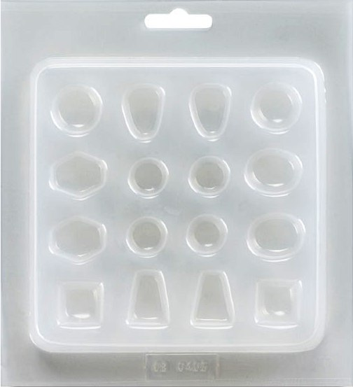 Mould Resin - Jewellery. Ovals, Rounds, Trapezoids, Squares