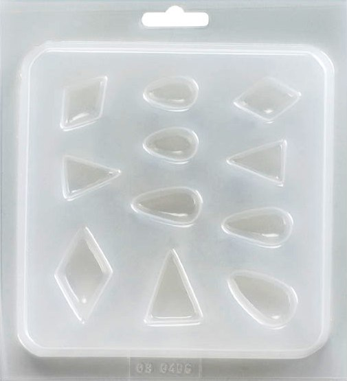 Mould Resin - Jewellery. Teardrops, Diamonds, Triangles