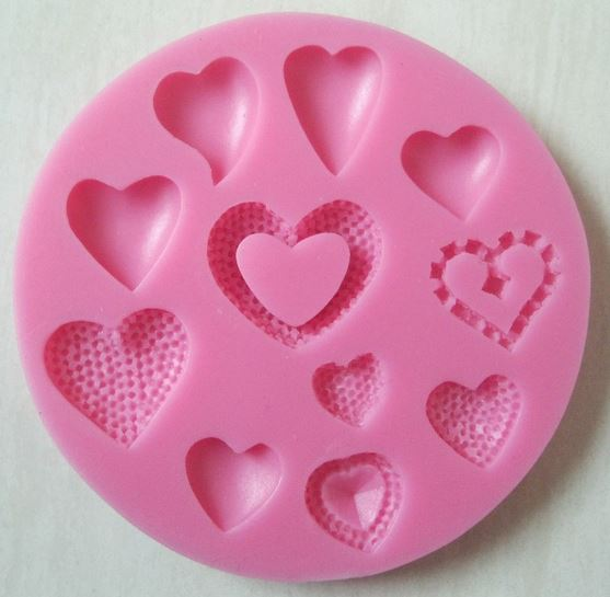 Happy Hearts Silicone Mould