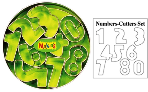 Numbers Clay Cutter Tin Set