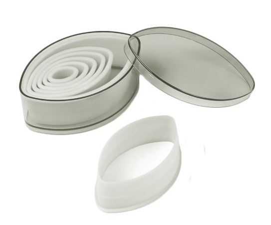 Cutter Set Nylon 7-Piece Pointed Oval