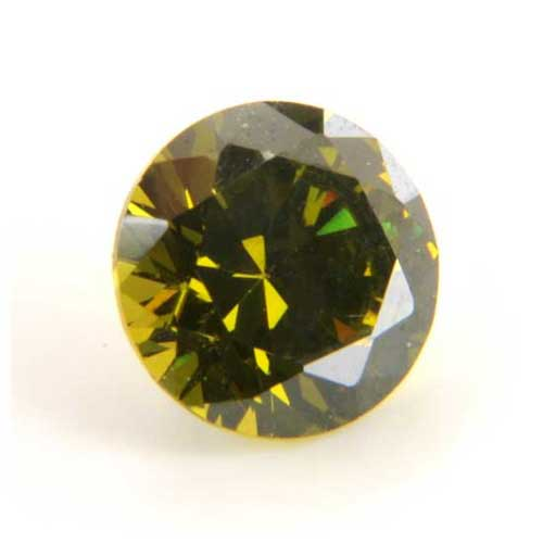 6mm Round Faceted Olivine