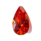 6x4 Pear Faceted Orange