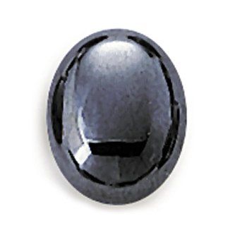 Oval 8 x 6mm Hematite Cabochon