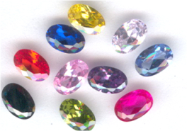 6x4 Faceted Oval Mixed Assortment