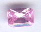 6x4 Emerald Cut Faceted Pink