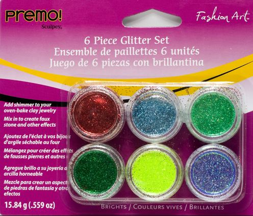 Premo! Sculpey 6 Piece Glitter Set Brights