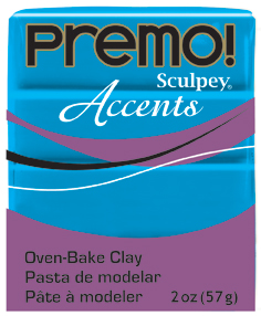 Premo Sculpey Accents Blue Translucent