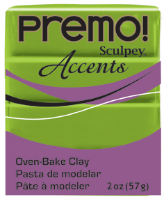 Premo Sculpey Accents Bright Green Pearl