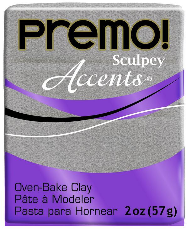 Premo Sculpey Accents White Gold Glitter 57grams NEW