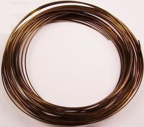 Bronze Round Wire 0.60mm x 500cm