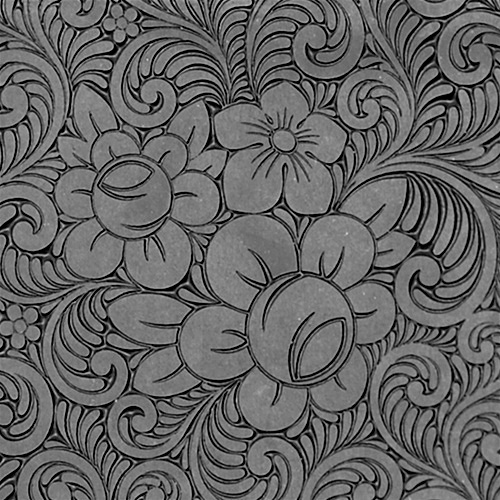Roses and Swirls Fine Line Texture Tile