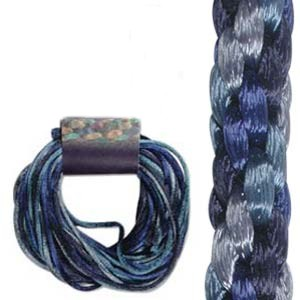 Kumihimo Satin Cord 2mm - Blue Tones Variegated