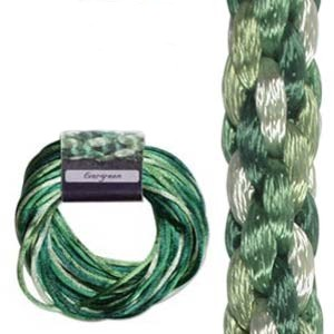 Kumihimo Satin Cord 2mm - Evergreen Variegated