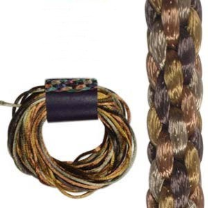 Kumihimo Satin Cord 2mm - Wheatberry Variegated