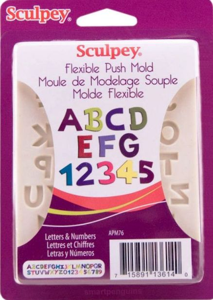 Sculpey Flexible Push Mould Letters and Numbers