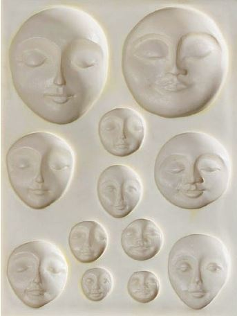 Sculpey EZ Release Push Mould - Art Faces