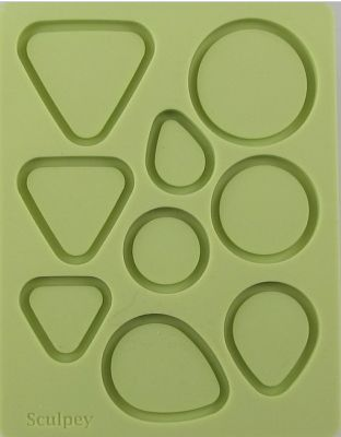 Sculpey Bakeable Silicone Mould - Bezel Shapes