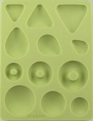 Sculpey Bakeable Silicone Mould - Cabochon Shapes
