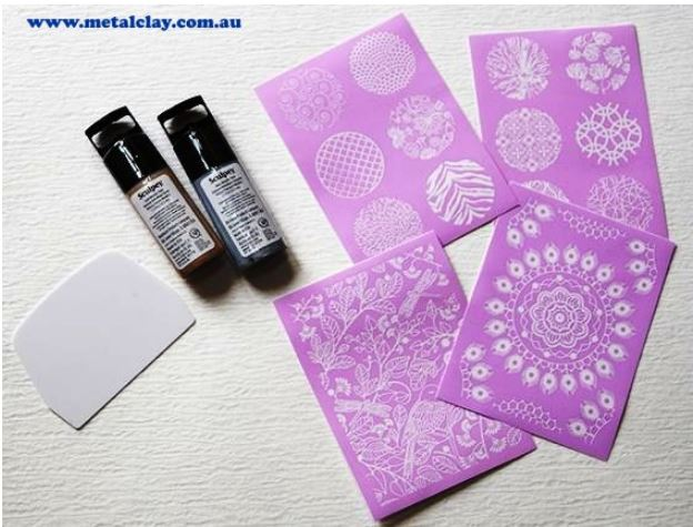 Sculpey Clay Silk Screen Metallic Kit