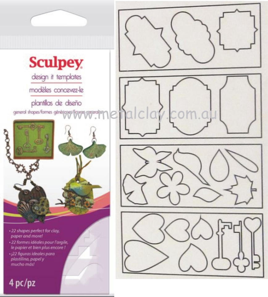 Template - Sculpey Design It Template - General Shapes