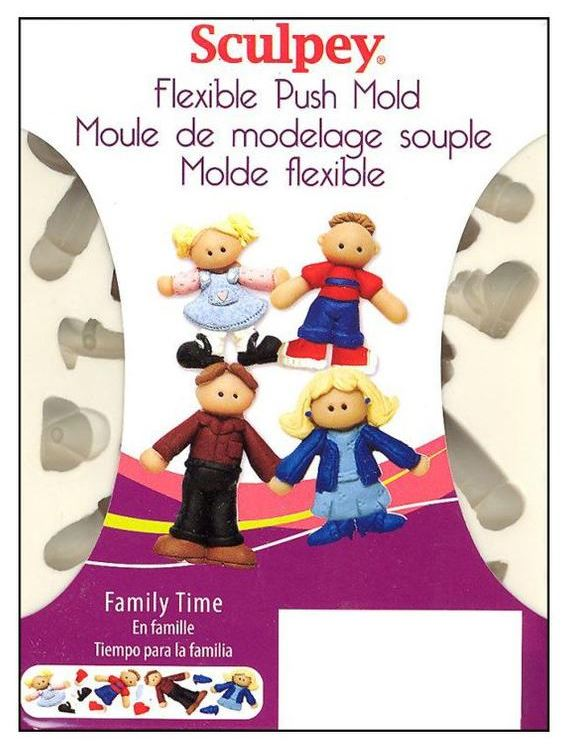 Sculpey Flexible Push Mould - Family Time