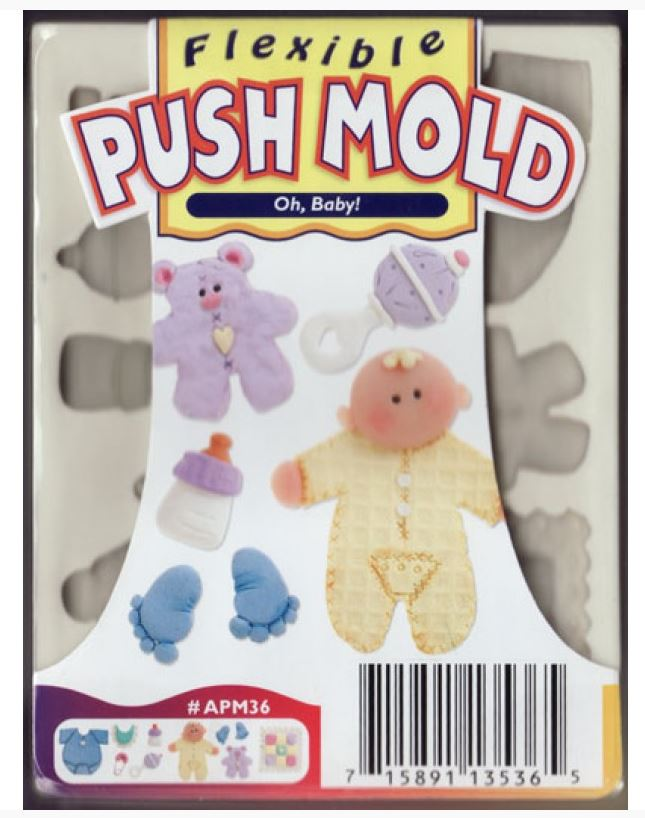 Sculpey Flexible Push Mould Oh Baby!