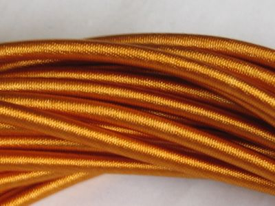 Single String Silk Necklace - Saffron
