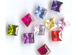 5mm Faceted Princess Cut (Square) Mixed Assortment