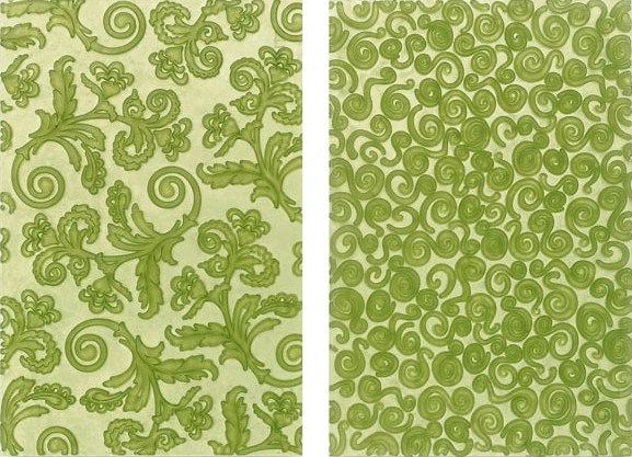 Studio™ by Sculpey® Swirls and Scrolls Texture Sheets x 2