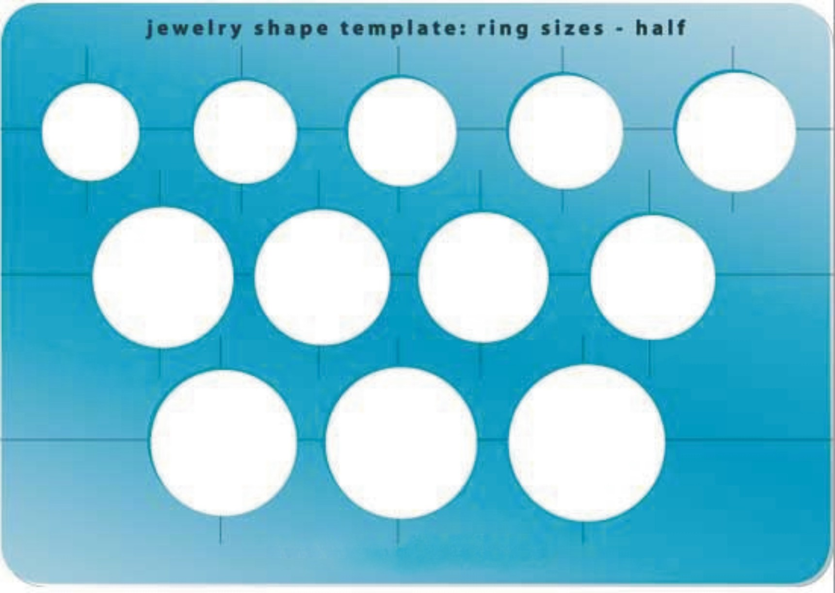 Template - Half Size Ring Shapes