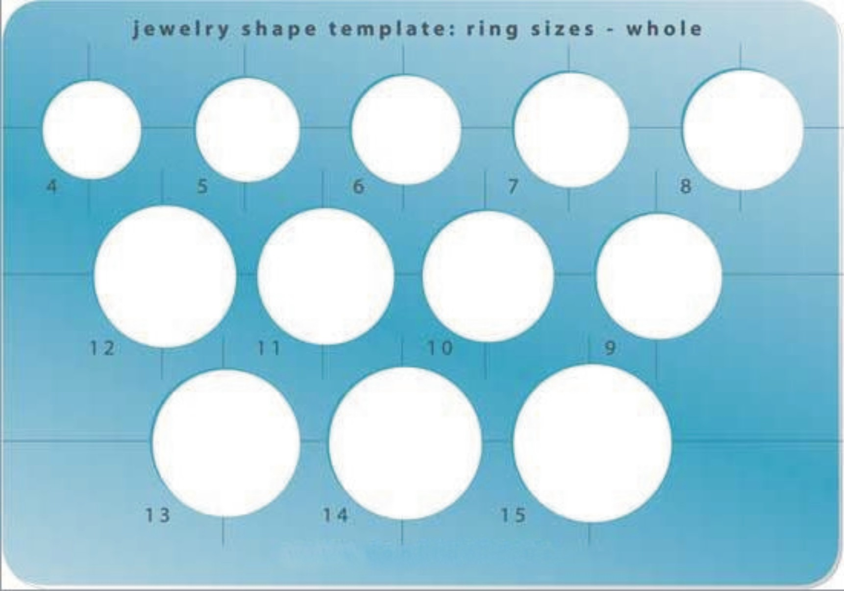 Template - Whole Size Ring Shapes