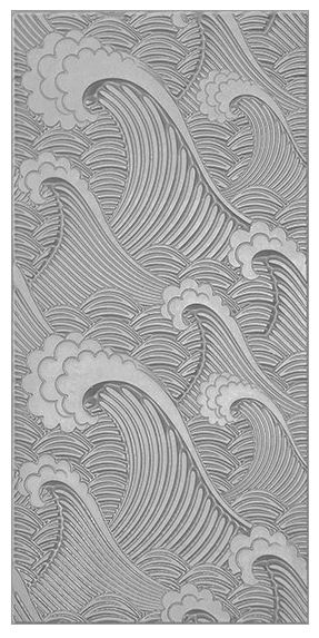 Texture Tile Waves Embossed