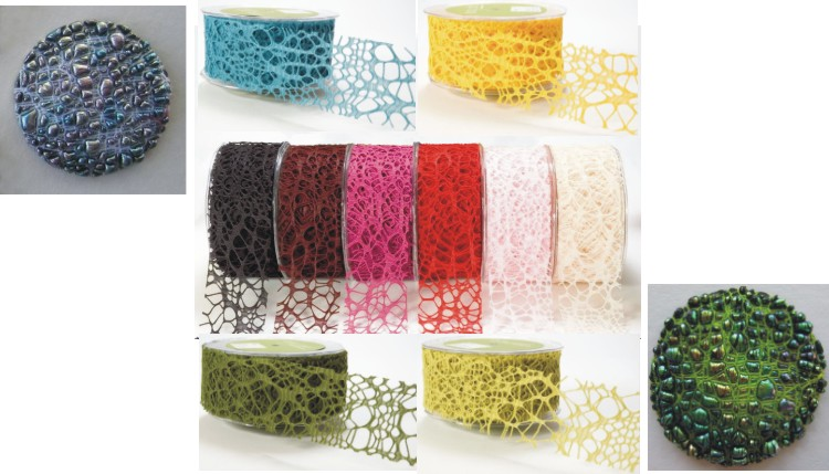 Webbed Woven Ribbon Sample Pack of 10 Colours
