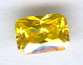 6x4 Emerald Cut Faceted Yellow