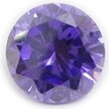 5mm Round Faceted Violet