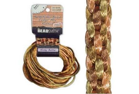 Kumihimo Satin Cord 2mm - Honey Butter Variegated